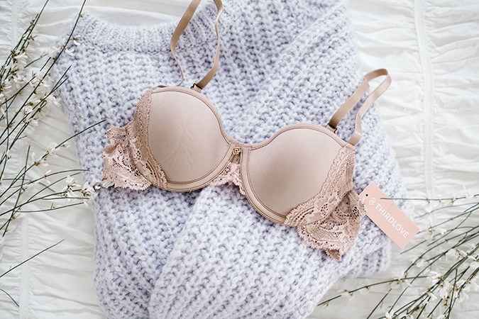 Nude lace bra by ThirdLove