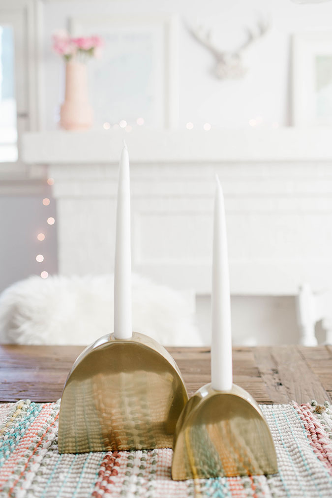 Target Metal Taper Candle Holder in Large