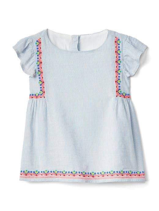 Baby Gap Stripe Flutter Top