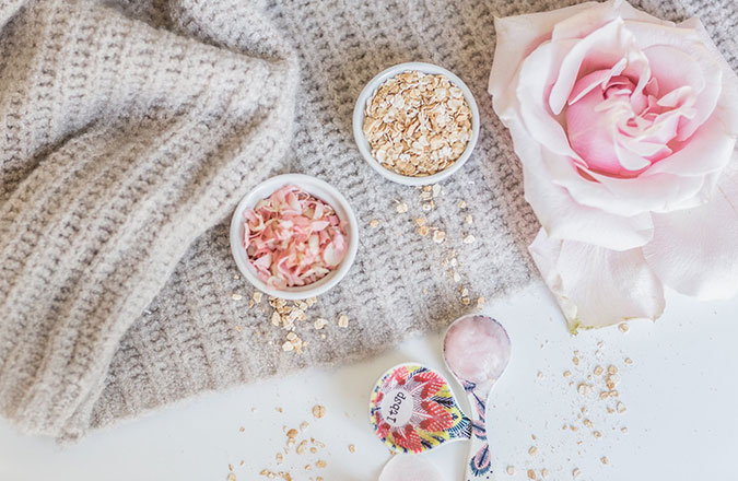 DIY Oatmeal Rose Face Mask