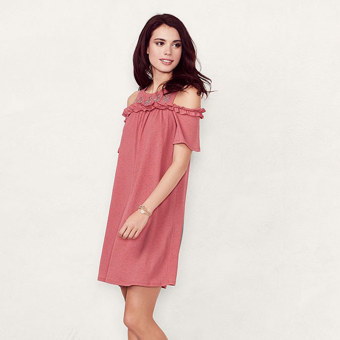 LC Lauren Conrad cold shoulder dress
