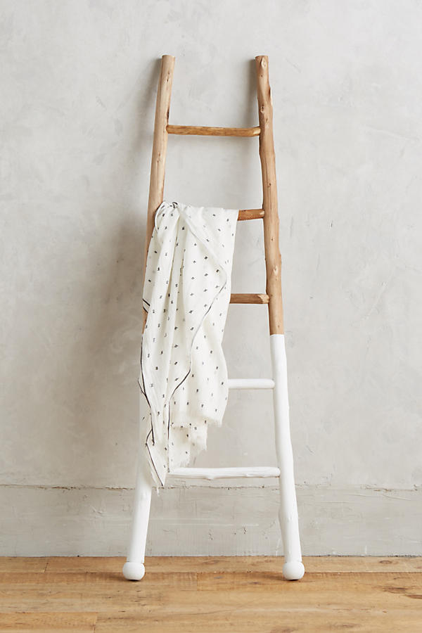 White dipped ladder from Anthropologie