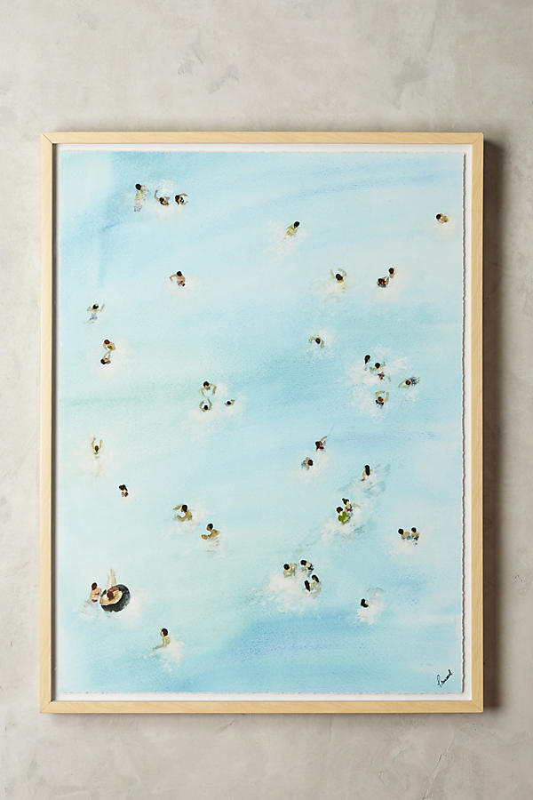 Anthropologie Guseul Park Swimming Pool Wall Art