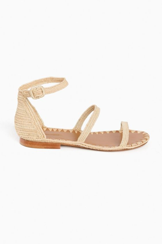 Carrie Forbes Natural Kader Sandals