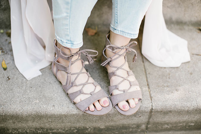 LC Lauren Conrad Gladiator Sandals