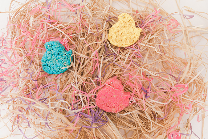 Peeps inspired rice krispie treats