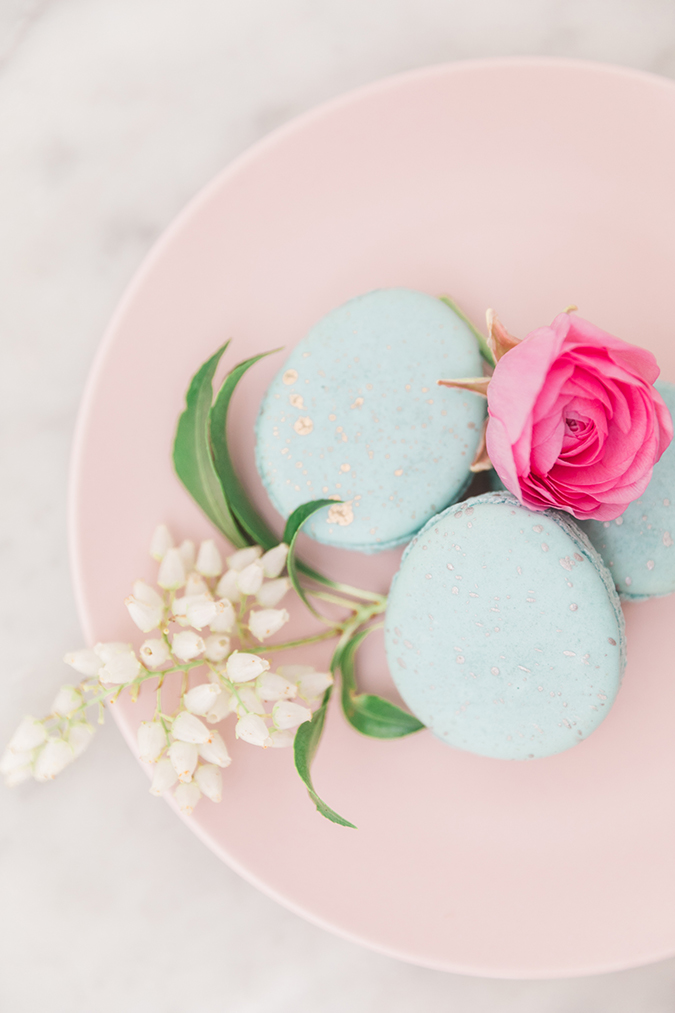Robin blue Easter egg macarons