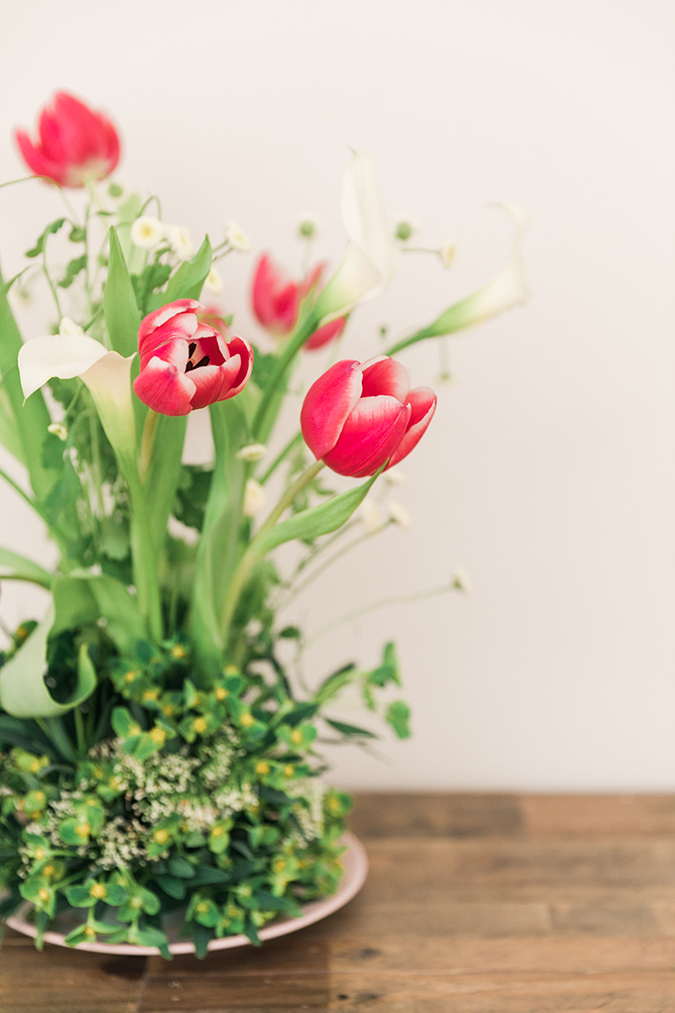 floral arranging at home for Easter