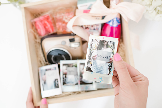 How to ask your friends to be your bridesmaids using Fujifilm