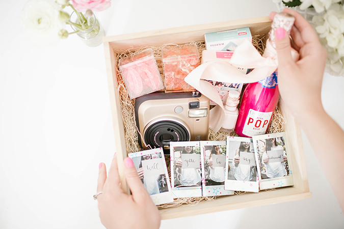 Using Fujifilm to ask your friends to be your bridesmaids