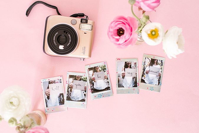 How to use Fujifilm to pop the question to your bridesmaids