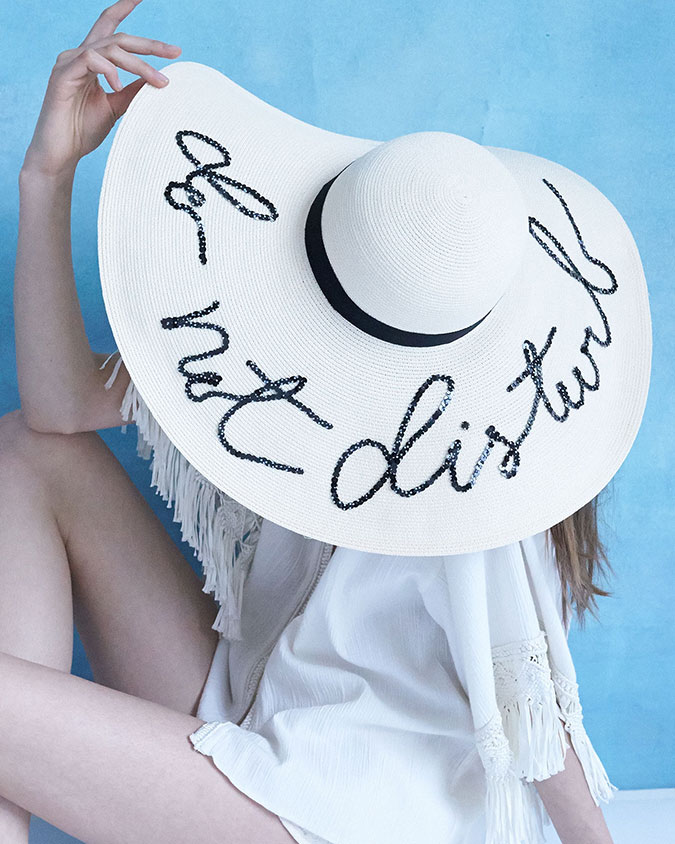 Eugenia Kim floppy sun hat; how to get the look for less