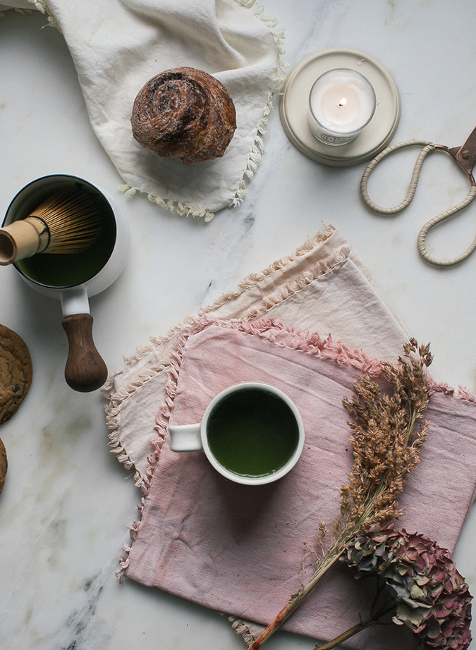 Naturally dyed DIY linens