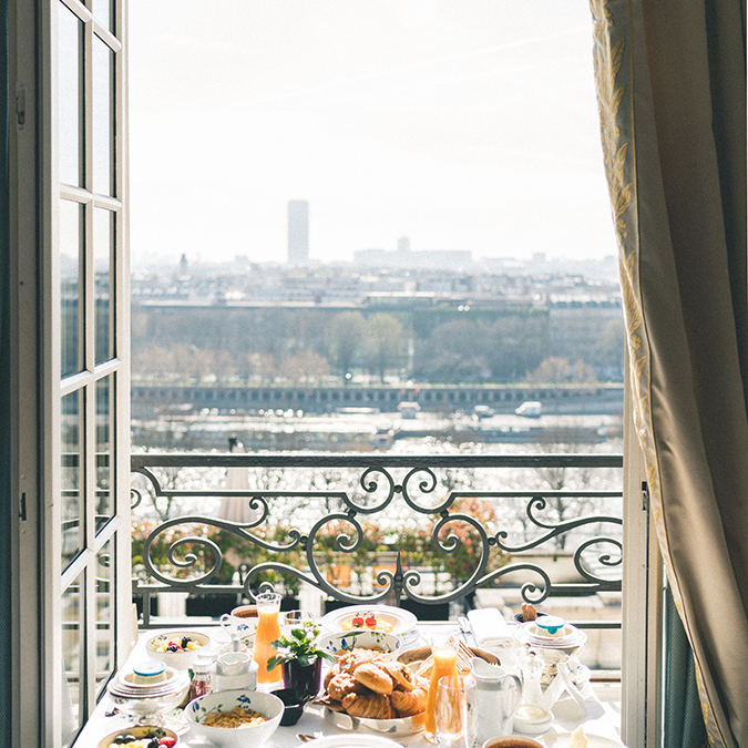 Morning view in Paris
