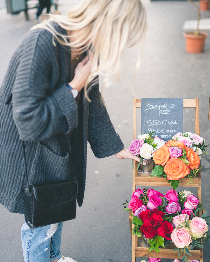Shopping for flowers on the streets of Paris