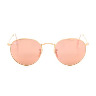 Ray-Ban Round Sunglasses with Copper Flash Lenses