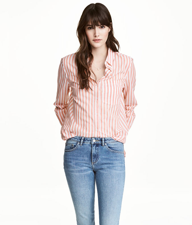 H&M Striped Cotton Shirt
