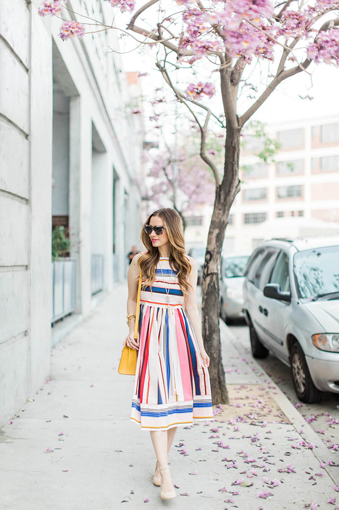 Striped Kate Spade dress