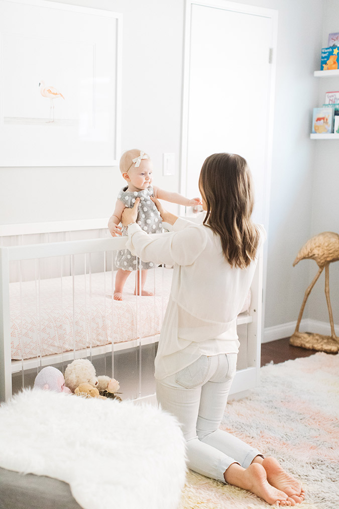 The prettiest light and bright nursery