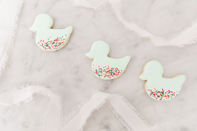 Little ducky baby shower cookies