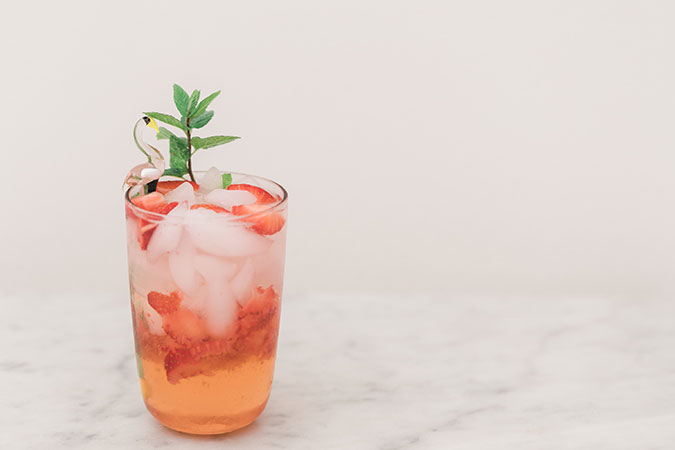 Strawberry Faux-sé mocktail
