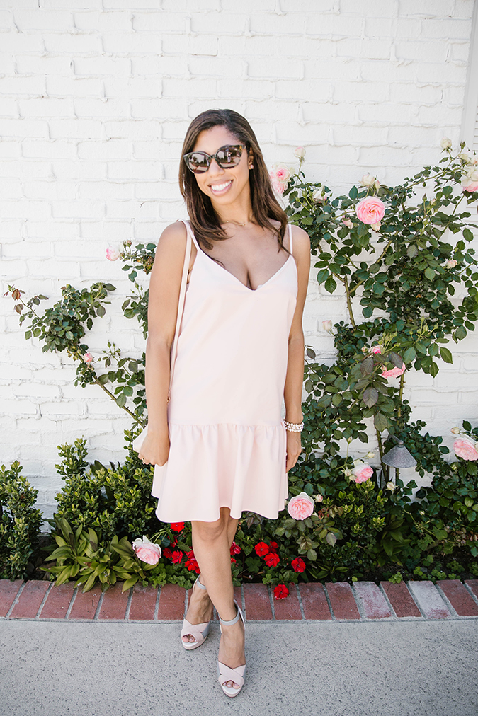 Blush garden party dress by Paper Crown