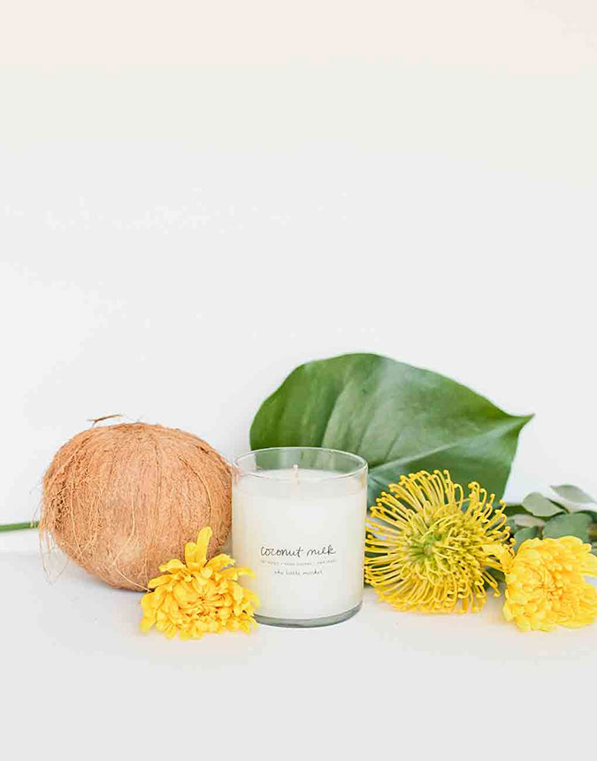 The Little Market Soy Blend Coconut Milk Candle