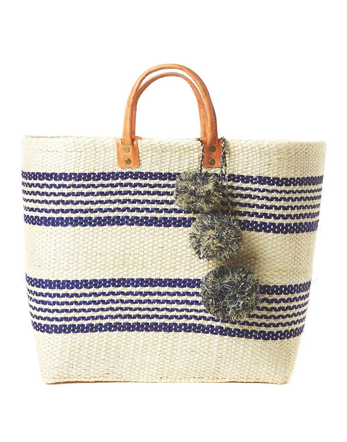 The Little Market Pom Pom Beach Bag