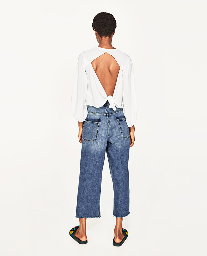 Zara Blouse with Open Back