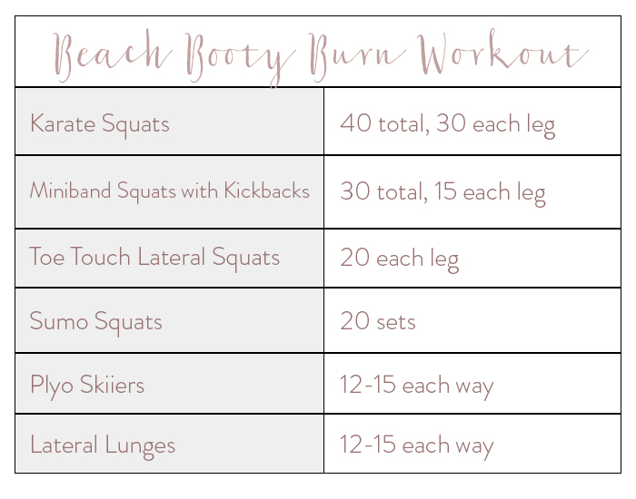 Burning booty workout courtesy of our trainer