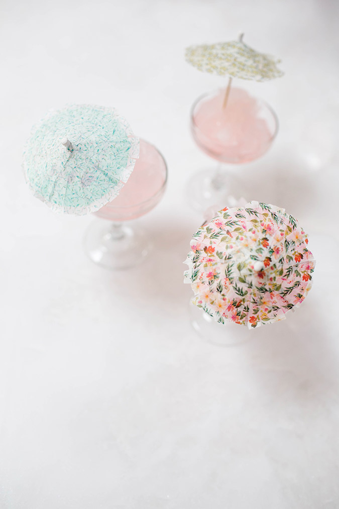 How to make little washi tape umbrellas for your cocktails