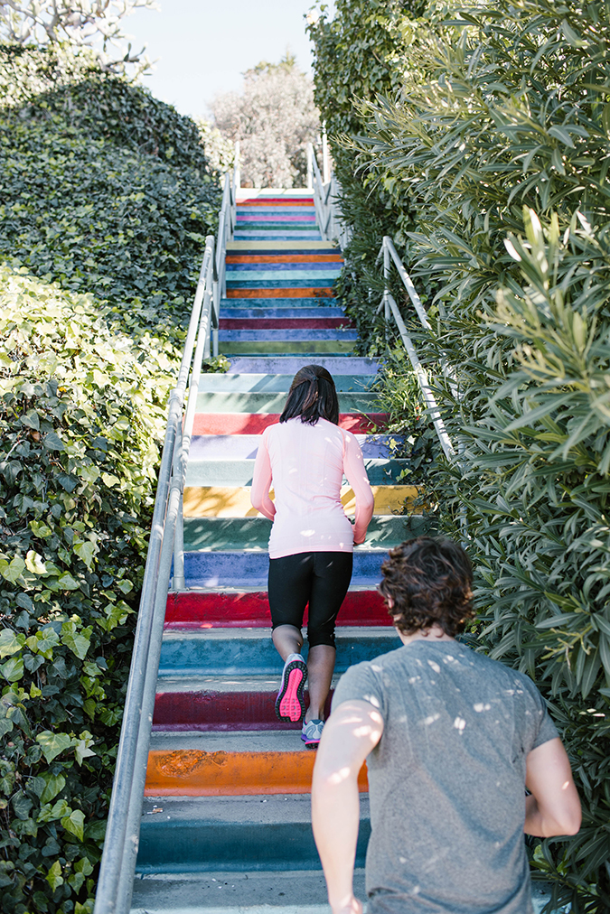 Get a great stairs workout via LaurenConrad.com