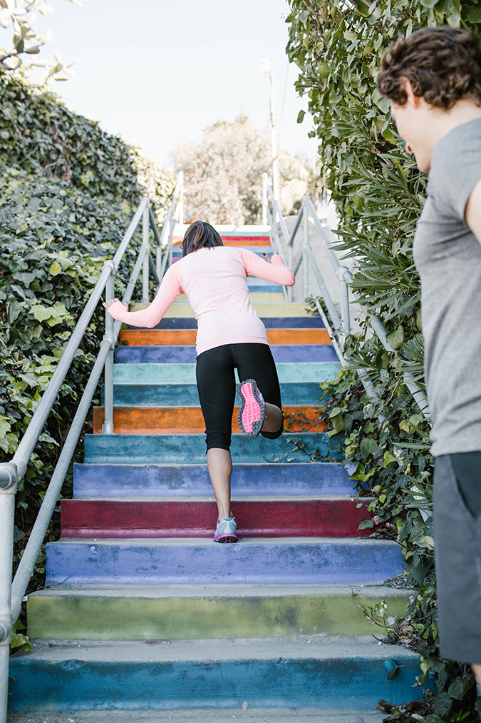 Stair workout via Dr. Hunter Vincent on LaurenConrad.com
