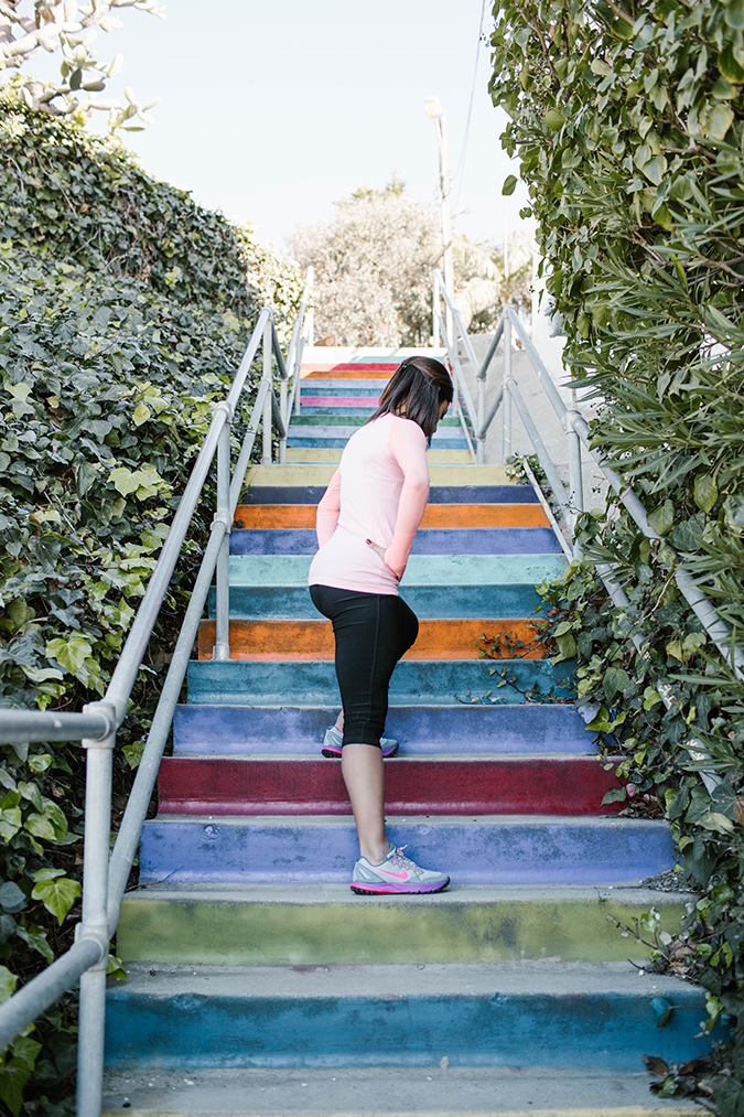Rainbow Stairs Workout on LaurenConrad.com