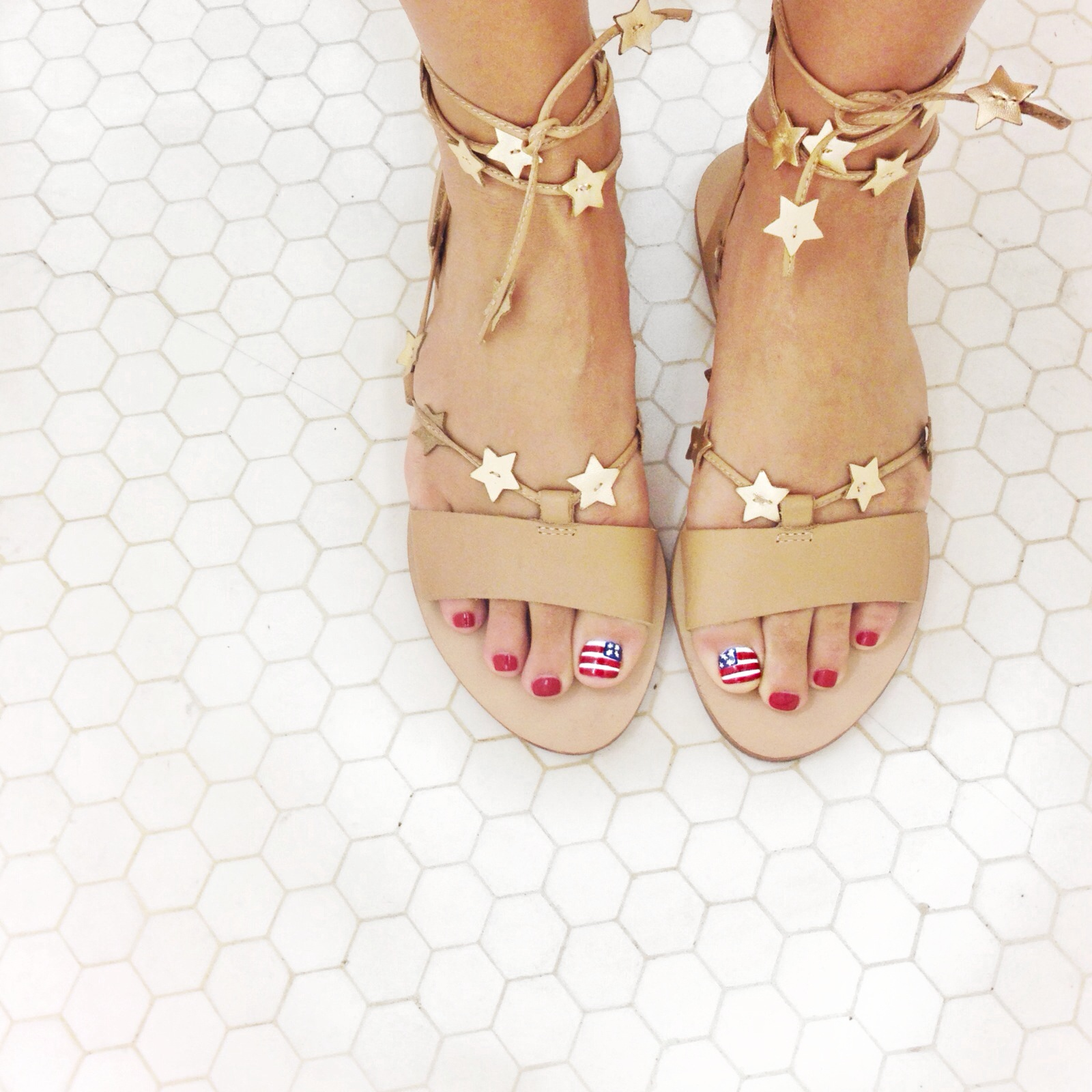 Loeffler Randall Star Wrap Sandals for the 4th