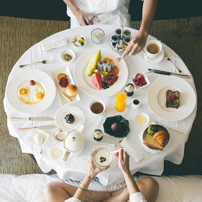 Breakfast spread in Tokyo via FindUsLost on LaurenConrad.com