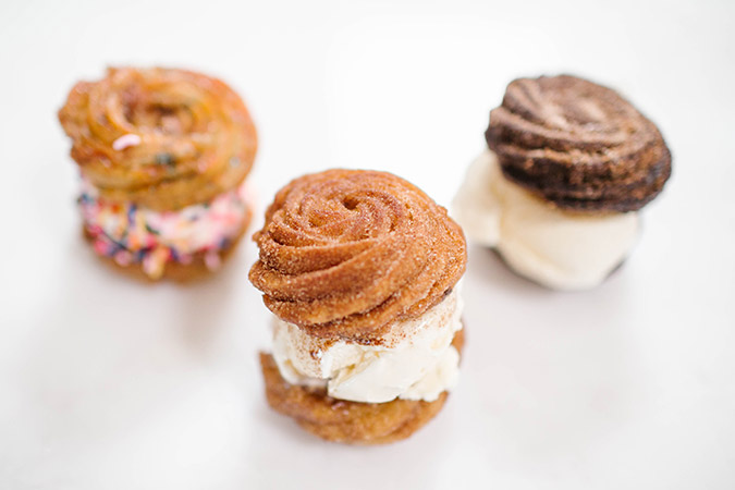 Three churro ice cream sandwich recipes