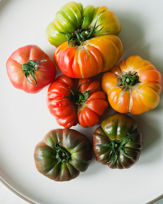 Light heirloom tomato salad recipe
