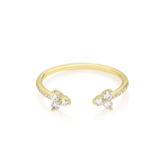 EF Collection Open Diamond Trio Ring