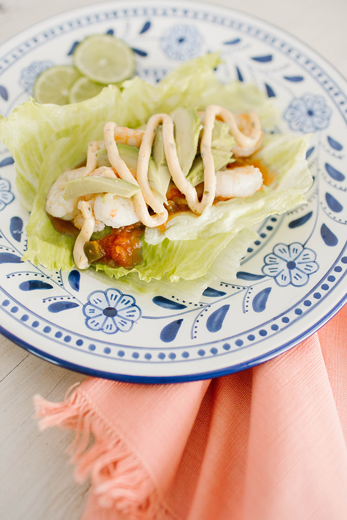 Shrimp lettuce wrapped tacos recipe