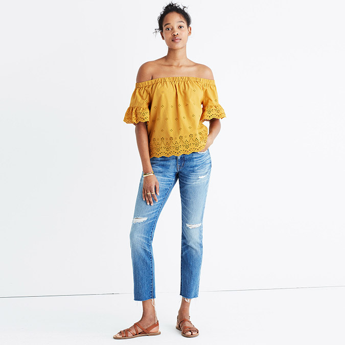 Madewell Mustard Yellow Blouse