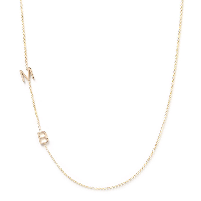 Maya Brenner Los Angeles 14k Gold 2 Letter Necklace