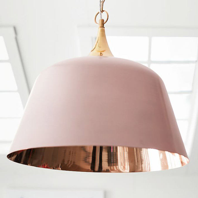 Pottery Barn Teen Isabella Rose Taylor Pink Dome Pendant