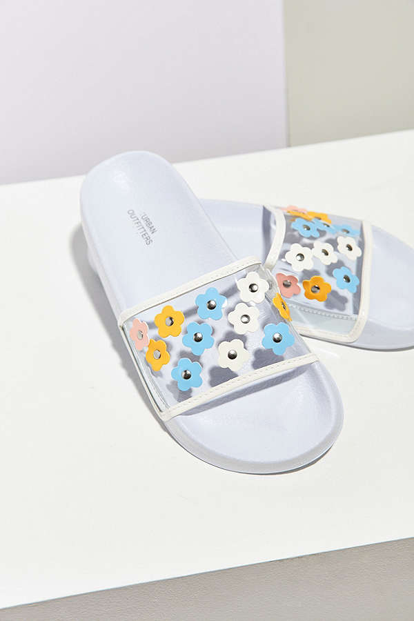 Urban Outfitters Daisy Pool Slides