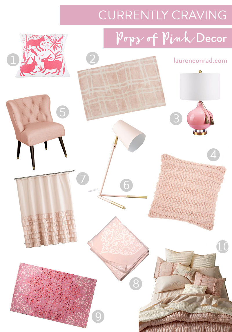 Shop pops of pink decor on LaurenConrad.com