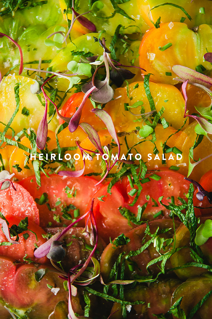 fresh heirloom tomato salad recipe for summer