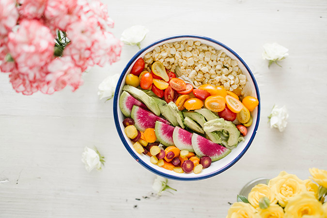 Chopped summer salad recipe via LaurenConrad.com