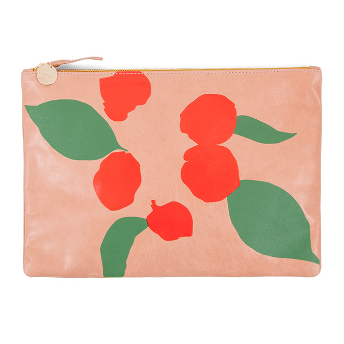 Clare V. Salmon New Look Poppy Bougainvillea Flat Clutch