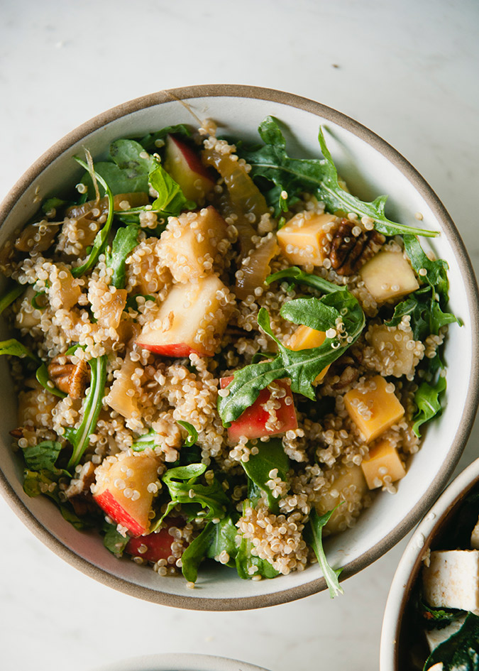 quinoa apple pecan salad