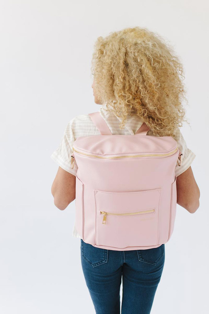 Fawn Design Diaper Bag in Blush
